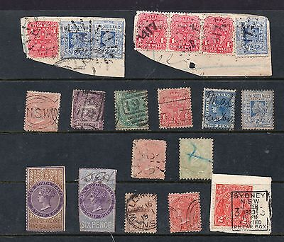 NEW SOUTH WALES - OLD STAMPS with NSW postmark interest possibly AUSTRALIA
