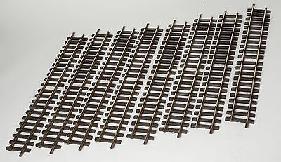 LGB G Gauge Brass Model Railway Track: 8 Pieces 1000 - 600mm Straight Track