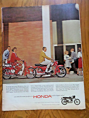 1965 Honda 50 &  90 Ad  You Meet the Nicest People on a Honda