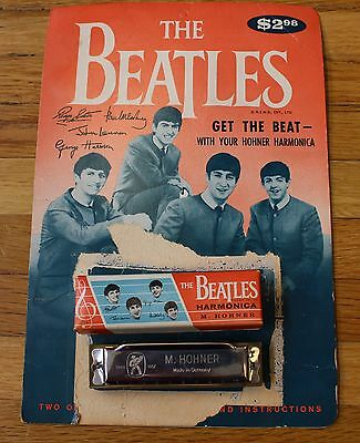 Vintage M. Hohner The Beatles Harmonica & Songbook Instructions w/ Original Box