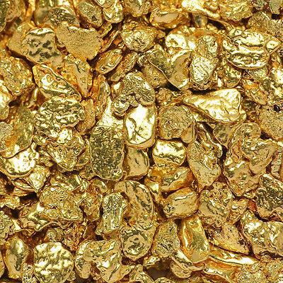 10 Pieces Alaska Natural Gold Nuggets with BOTTLE - FREE SHIPPING (#140f0.5-1m)