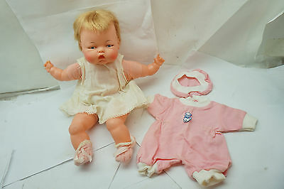 VINTAGE THUMBELINA DOLL IDEAL WIND UP 14in WORKS ORIGINAL BABY OTT 1960s