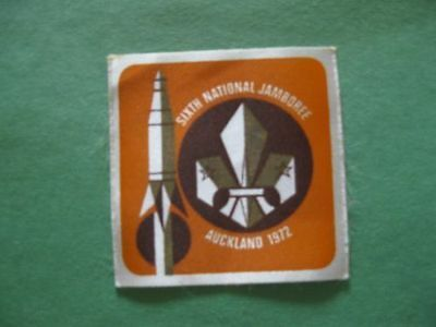 BOY SCOUTS OF NEW ZEALAND - 1972 NATIONAL JAMBOREE PATCH- Printed