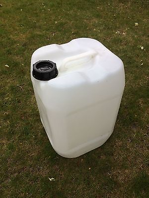 25L Litre Water Fluid Rigid Plastic Butt Container Jerry Can Stackable Securable