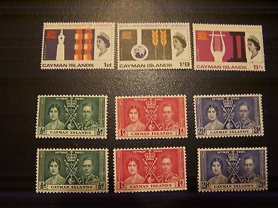 3 Cayman Islands Better Mint And Nh Sets