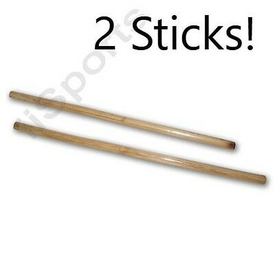 Pair 2 Escrima Kali Arnis Fighting Sticks Plain fire hardened Rattan 28""