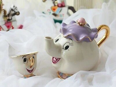 Disney Inspired Mrs Potts And Chip Set - Beauty And The Beast , Mother And Child