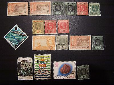 18 Cayman Islands Better Used, Mint And Nh Stamps