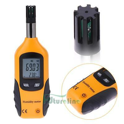 Digital Psychrometer Humidity & Temperature Meter Dew Point Wet Bulb Tester NEW