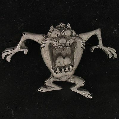 PIN Taz Tazmanian WARNER BROS LOONEY TUNES Pewter TIE TACK WB STORE 5372
