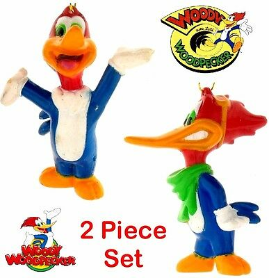 2 WOODY the WOODPECKER Walter Lantz MINI package ORNAMENTS Set 1967