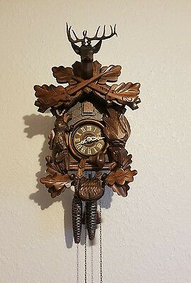 """16"""" One Day Hunter's Cuckoo clock German black forest"""