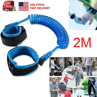 US Anti Lost Wrist Link Traction Rope Safety Harness Leash For Toddler Baby Kids