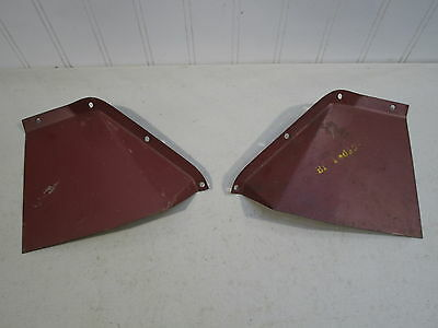Nos 1952-1953 Ford Passenger Car Lh & Rh Front Fender Apron Splash Shields, Pair