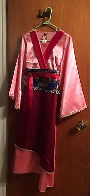 Girls Disney Store Mulan Dress up Play Costume Sz L 10/12