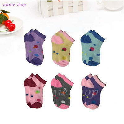 New 12 Pairs Newborn Baby Girls Cotton Kids Soft Ankle Socks Size 6-8 Fashion