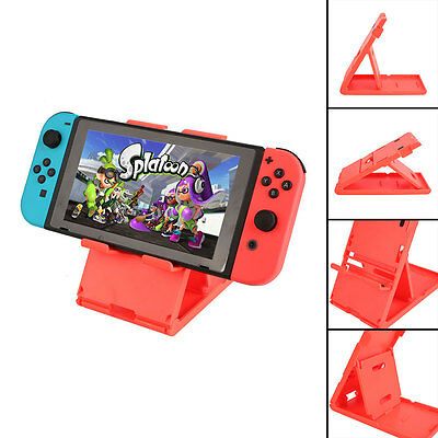 Adjustable Playstand Stands Dock Mount Compact Red For Nintendo Switch Console