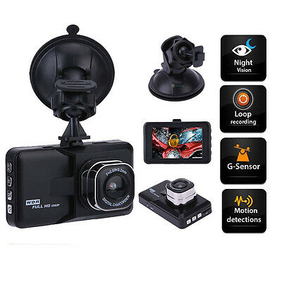 "3"" Full Camera Video Registrator G-sensor Car Blackbox DVR Recorder Dash Cam"