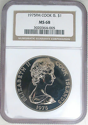 1975 NGC MS68 Cook Islands Business Strike $1 (Dong Dollar)