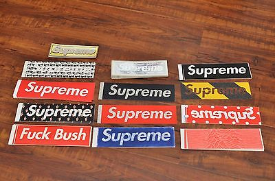 Brand New Supreme Box Logo Stickers Grip Tape Undercover Bush Molodkin CDG Joy