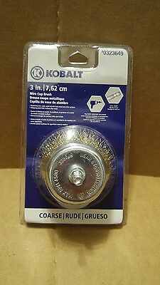 Kobalt 3-in Wire Cup Brush Straight Coarse 1/4 in. Shank Suitable for Drill