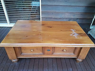 Vintage Style Solid Timber Coffee Table