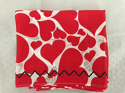 Brand New Vivienne Westwood Scarf Handkerchief Red Heart Heart - LAST ONE