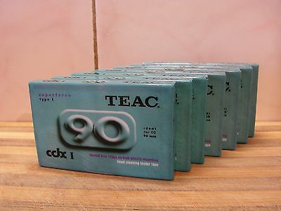7 x TEAC 90 CDX1 Blank Audio Cassette Tapes, Brand New & Factory Sealed