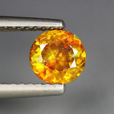 1.05 Cts_Unique Rare Collection_Sun Set Orange_100 % Natural Sphalerite_Round