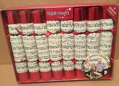 "Robin Reed set of 8 x 10"" Musical Concerto Christmas Crackers"