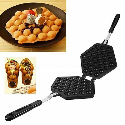 Nonstick Egg Bubble Pan Waffle Cake Maker Iron Pan Baking Mold Food Plate Tools