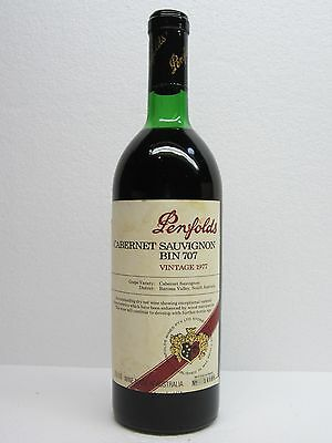 Penfolds Bin  707 Vintage 1977,, 'grange Stable'  Red Wine.