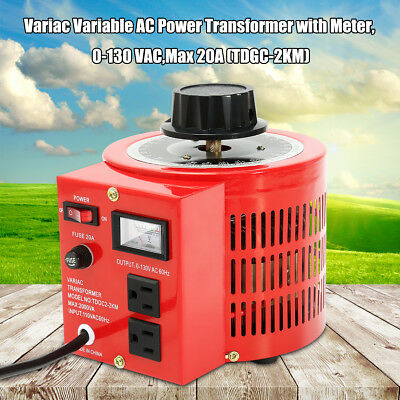 Metered 2000w 20Amp Variac Variable Transformer AC Voltage Regulator 110V Auto