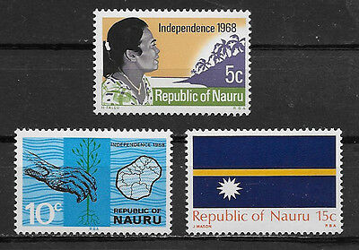 Nauru , 1968/69 , Independence , Set Of 3 Stamps  , Perf , Mnh