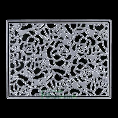 Flower Frame Embossing Cutting Dies Stencils DIY Scrapbooking Paper Card Crafts