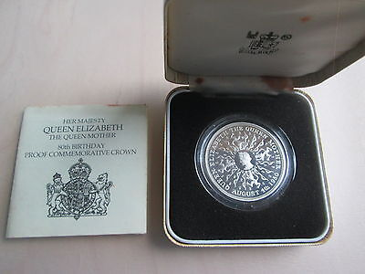 Queen Mother 80th Birthday Silver Proof Crown