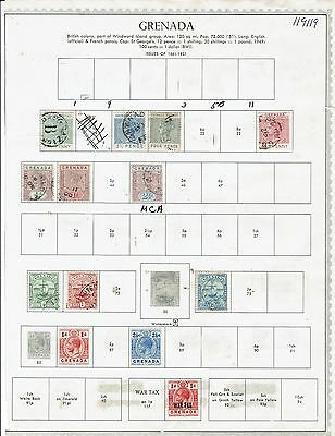 Grenada Stamp 11page  Collection