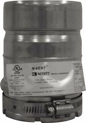 Noritz VP4-ADAPT-PVC Adapter for 4 Inch PVC Pipe for NCC199, Stainless Steel