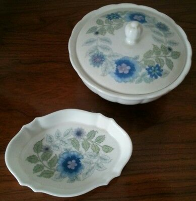 Wedgwood Clementine Lidded bowl and Pin Dish