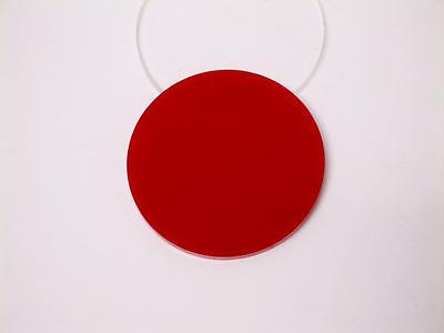 Acrylic Perspex Disk Circle Red 3mm Thick 120mm to 500mm Diameter