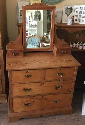 Wooden Vintage Edwardian Dressing Table