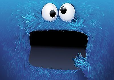 Cookie Monster - A4 Glossy Poster -TV Film Movie Free Shipping #682