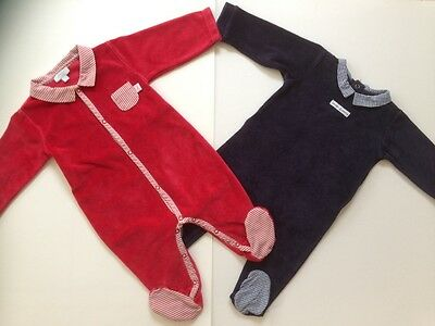♣♣♣ Lot 2 pyjamas velours JACADI 3 - 6 Mois ♣♣♣