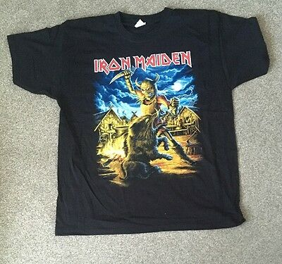 Iron Maiden Maiden England Nordic 2014 Event Shirt Dates On Back Size XL Unsworn