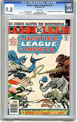 Justice League of America  #132  CGC  9.8  NMMT   white  pages