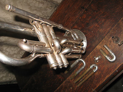 Antique Frank Holton Trumpet/Coronet 1911 Complete with Case