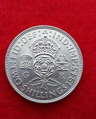 1945 king george 6th  2 shilling piece