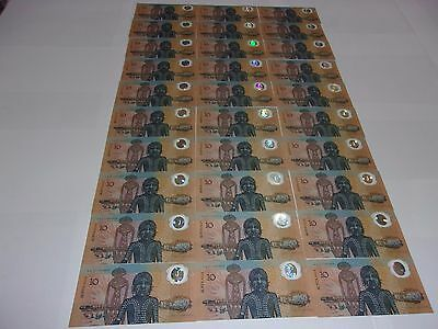 1988 polymer note 30 notes 3 lots of 10 consecutive order all uncirculated UNC