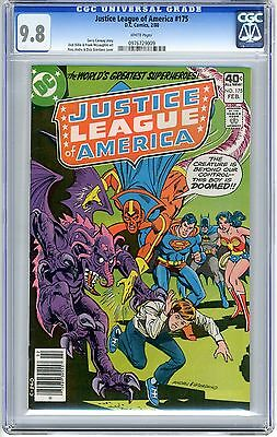 Justice League of America  #175   CGC  9.8   NMMT  white  pages