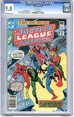 Justice League of America  #181   CGC  9.8   NMMT  white  pages